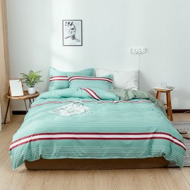 AIX Stripey Green Duvey Cover Set (A1907023)