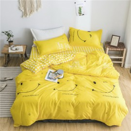 AIX Keep Calm and Put a Smile On Yellow Duvet Cover (A1907026)