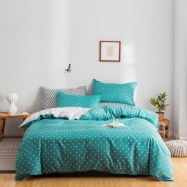 AIX Star & Check Print Green Duvet Set (A1907028)