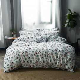 AIX Colourful Leopard Print White Duvet Cover Set (B1907002)
