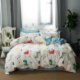 AIX Dinosaur Jungle White Duvet Set (B1907003)