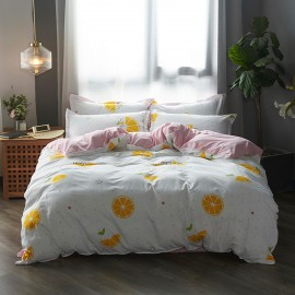 AIX Lemon Slice White Duvet Cover (B1907010)
