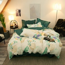 AIX Monstera Tropical Green Leaves Duvet Cover Set (B1907015)