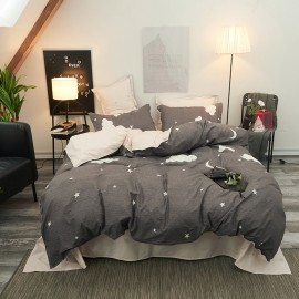 AIX Night Sky Grey Duvet Cover Set (B1907017)