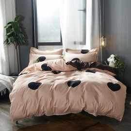 AIX Love Heart Coffee Duvet Cover Set (B1907025)