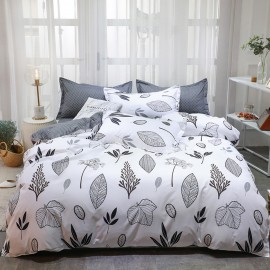 AIX Bunch of Leaves White Duvet Cover Set (K1907009)