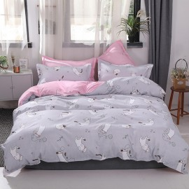 AIX Kitty Cats Grey Duvet Cover Set (K1907012)