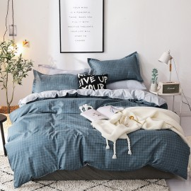 AIX Thin Blue Check Duvet Cover Set (K1907015)
