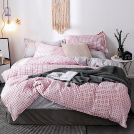 AIX Thin Pink Check Duvet Cover Set (K1907016)