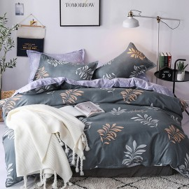 AIX Hello Beautiful Charcoal Duvet Cover Set (K1907023)