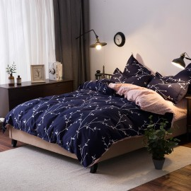 AIX Flowering Vines Navy Duvet Cover Set (X1907011)
