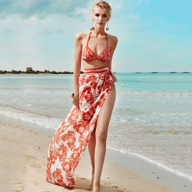 Balneaire Sheer Red Beach Wrap Around (30241)