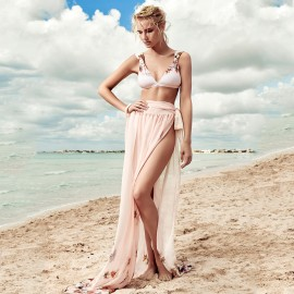 Balneaire Sheer Blush Pink Beach Wrap Around (30242)