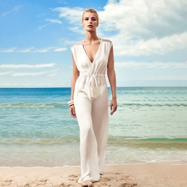 Balneaire Sheer White Jumpsuit (30244)