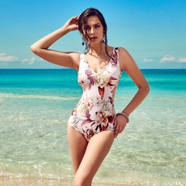 Balneaire Low Neck Floral One Piece (60884)