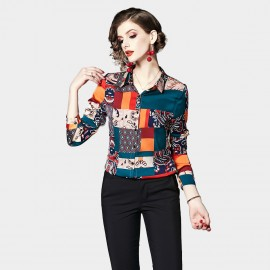 OFYA Patchwork Multi Coloured Button Up Shirt (1003)