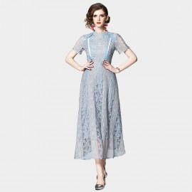 OFYA Timeless Baby Blue Lace Dress (6649)