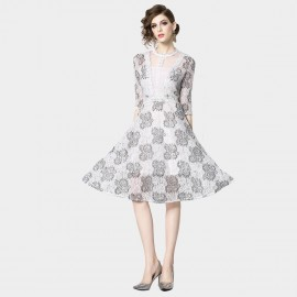 OFYA Ice Queen White Lace Dress (8289)