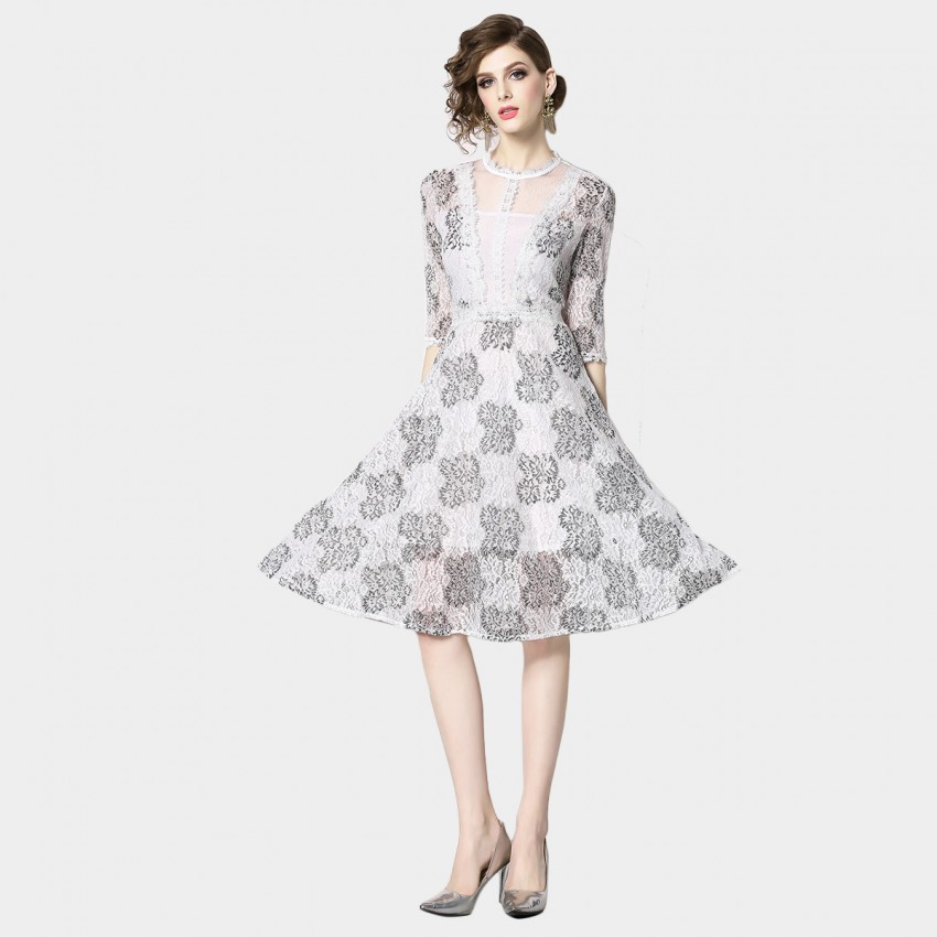 Buy OFYA Ice Queen White Lace Dress online, shop OFYA with free shipping
