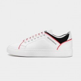 Masoomake Contrast Sculpting White Sneakers (FSD7026)