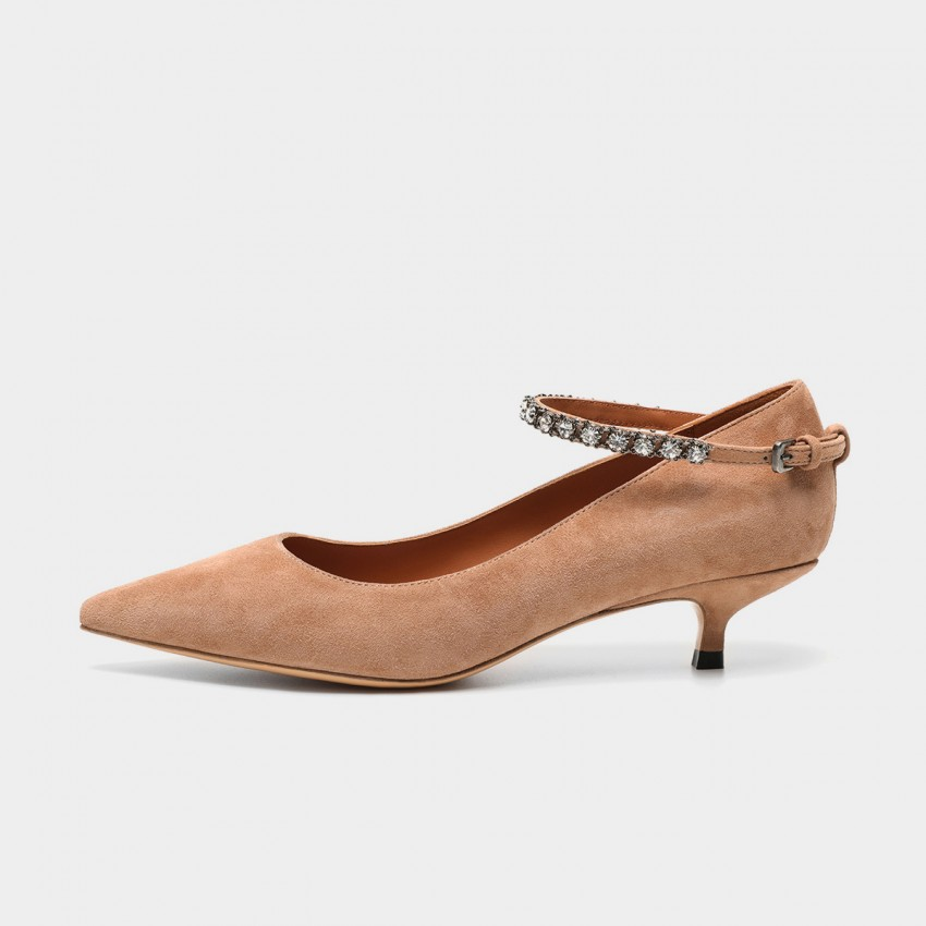 Buy Masoomake Jewelled Apricot Pumps online, shop Masoomake with free shipping