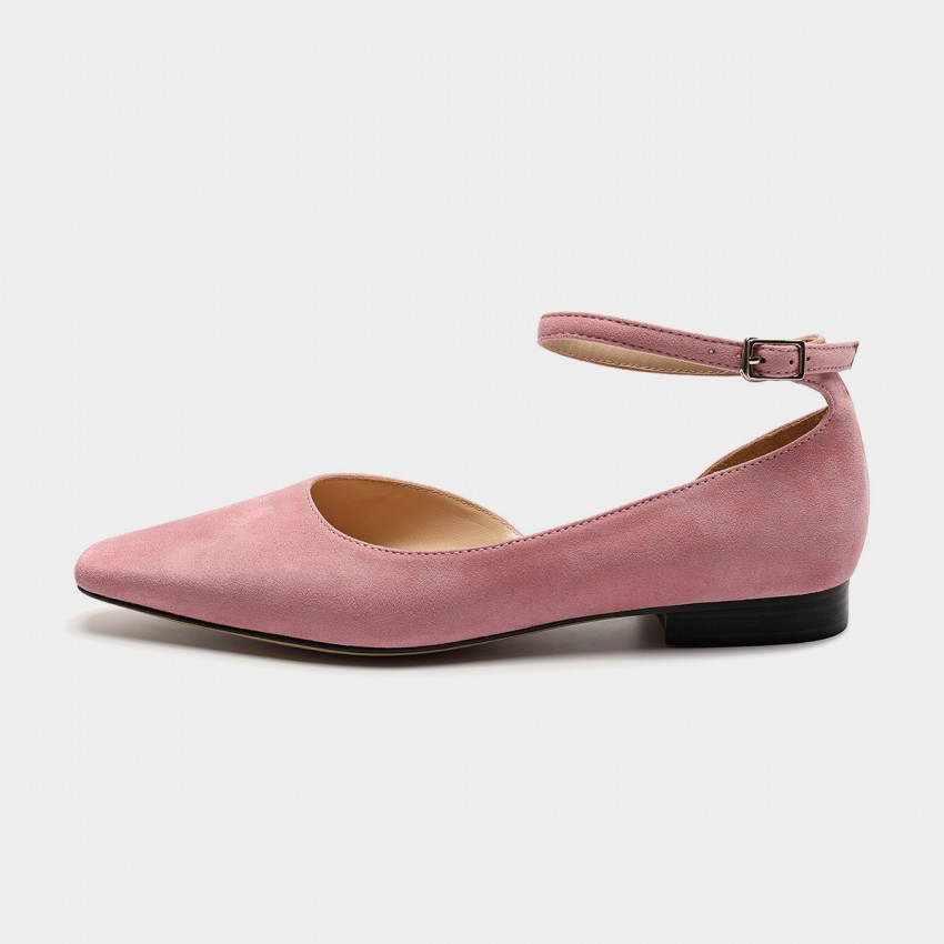 Buy Masoomake Ankle-Tie Pink Flats online, shop Masoomake with free shipping