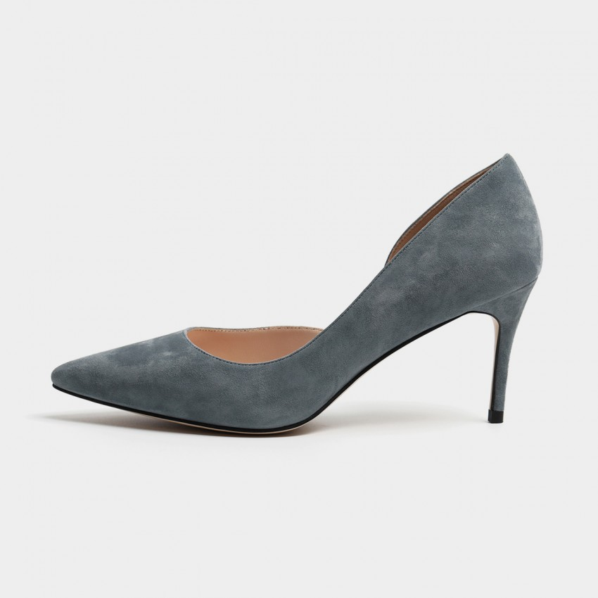 Buy Masoomake Classic Cut-Out Grey Pumps online, shop Masoomake with free shipping