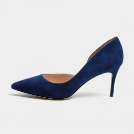 Masoomake Classic Cut-Out Navy Pumps (FSD73396)