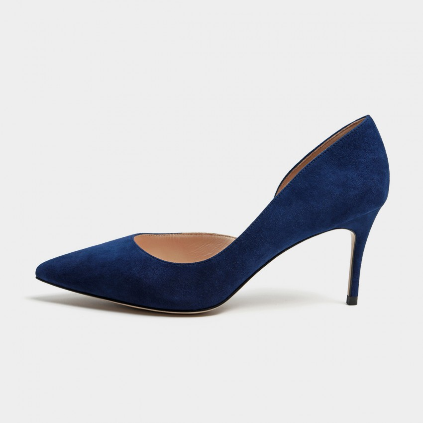 Buy Masoomake Classic Cut-Out Navy Pumps online, shop Masoomake with free shipping
