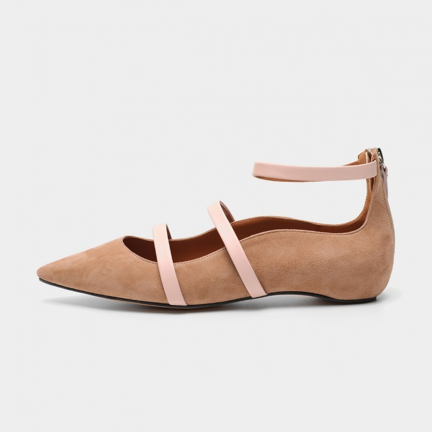 Buy Masoomake Multi-Tie Apricot Flats online, shop Masoomake with free shipping