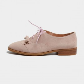Masoomake Ribbon Oxford Pink Lace Ups (FSD76068)