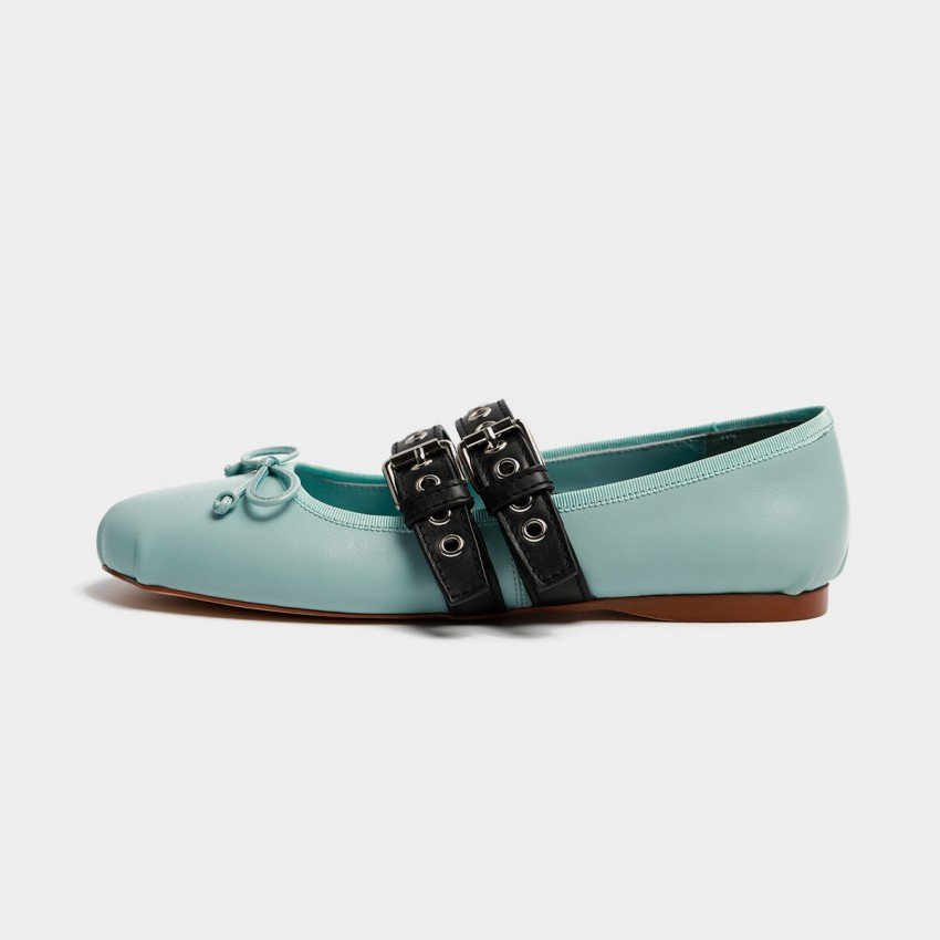 Buy Masoomake Style Contrast Blue Flats online, shop Masoomake with free shipping