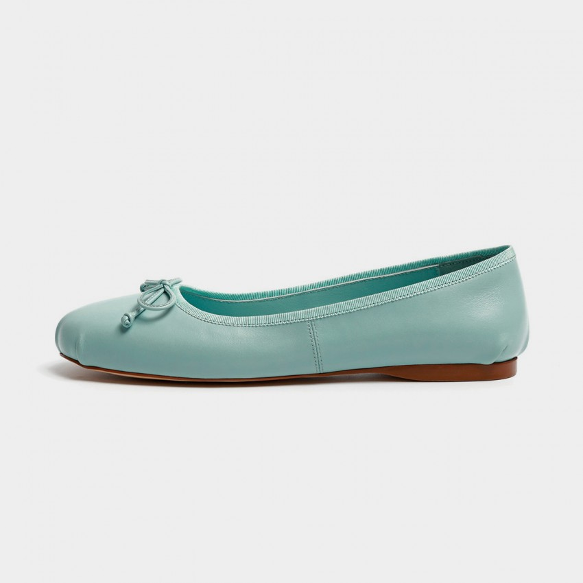 Buy Masoomake Classic Ballerina Blue Flats online, shop Masoomake with free shipping