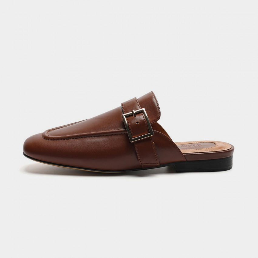 Buy Masoomake Buckle Brown Slippers online, shop Masoomake with free shipping