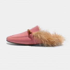 Masoomake Furry Knotted Pink Slippers (FSD78116)