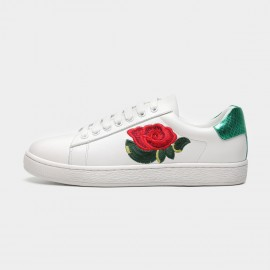 Masoomake Embroidered Rose Green Sneakers (FSD79001)