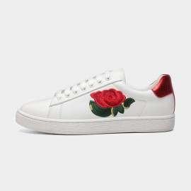 Masoomake Embroidered Rose Red Sneakers (FSD79001)