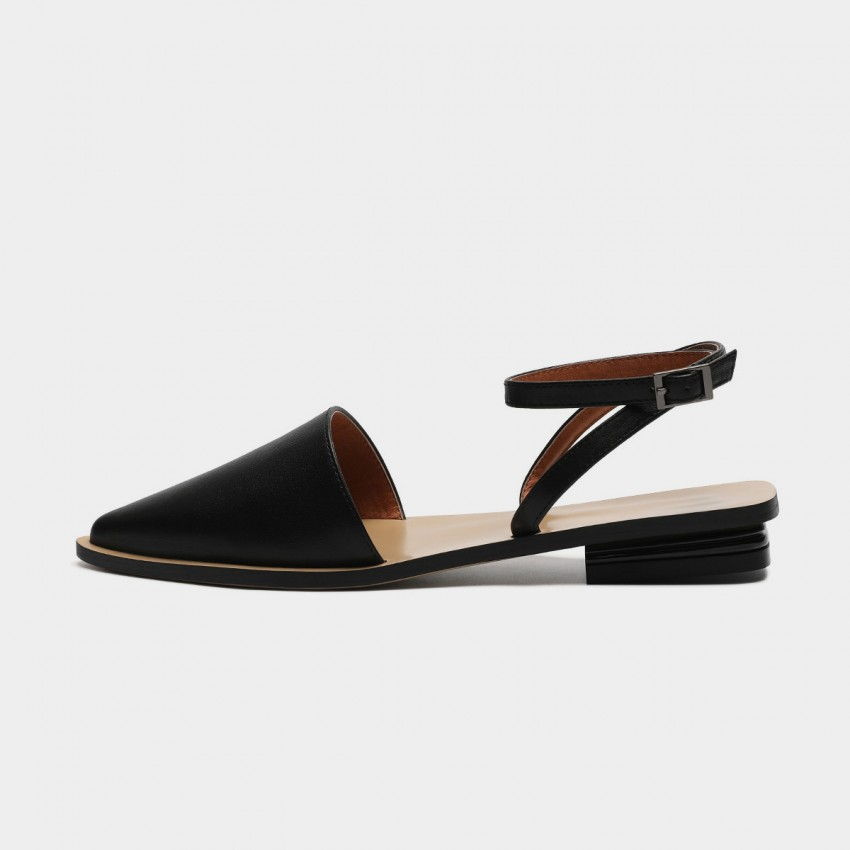 Buy Masoomake Ankle-Tie Black Sandals online, shop Masoomake with free shipping