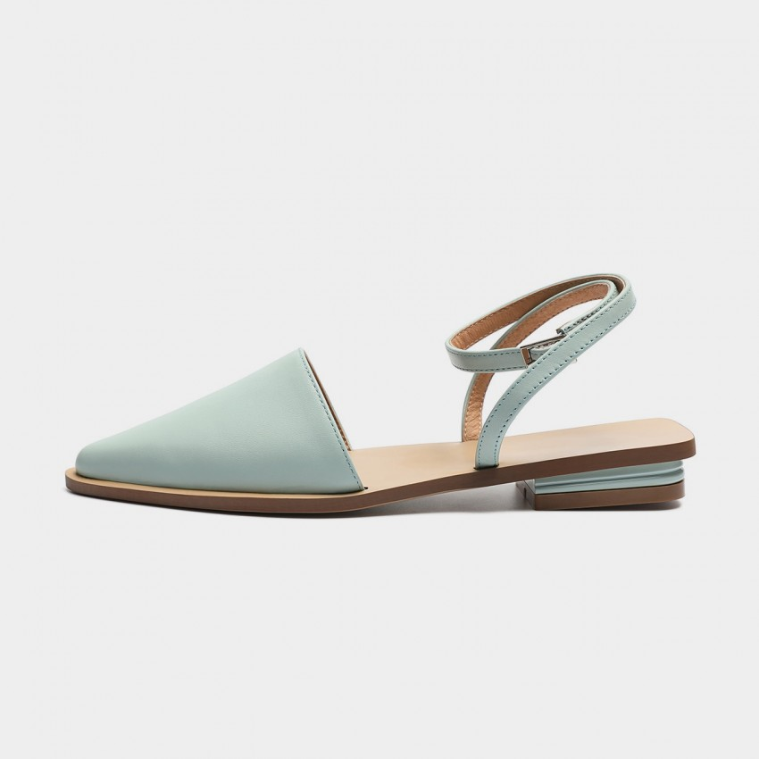 Masoomake Ankle-Tie Blue Sandals (FSL60780)