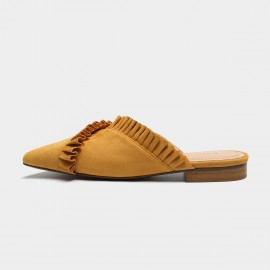 Masoomake Contemporary Ruffle Yellow Slippers (FSL66016)