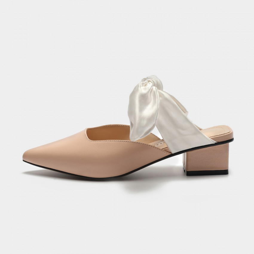 Buy Masoomake Satin Tie Apricot Sandals online, shop Masoomake with free shipping