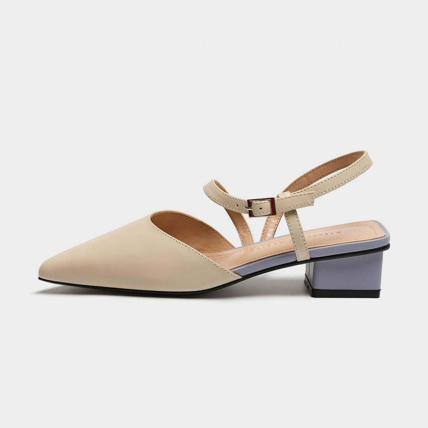Buy Masoomake Multi-Tone Ankle-Tie Apricot Sandals online, shop Masoomake with free shipping