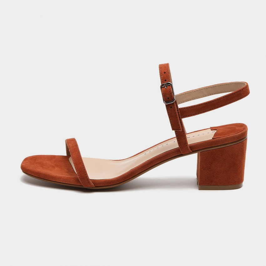 Buy Masoomake Strappy Suede Brown Sandals online, shop Masoomake with free shipping