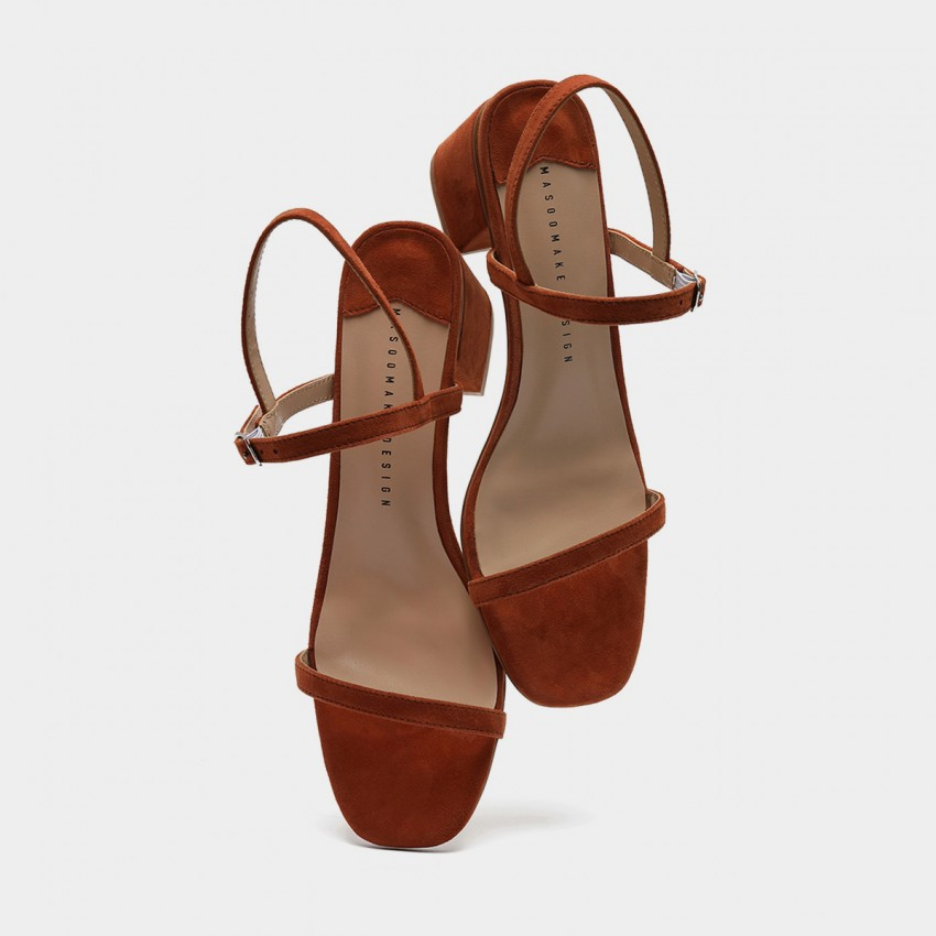 Masoomake Strappy Suede Brown Sandals (FSL68255)