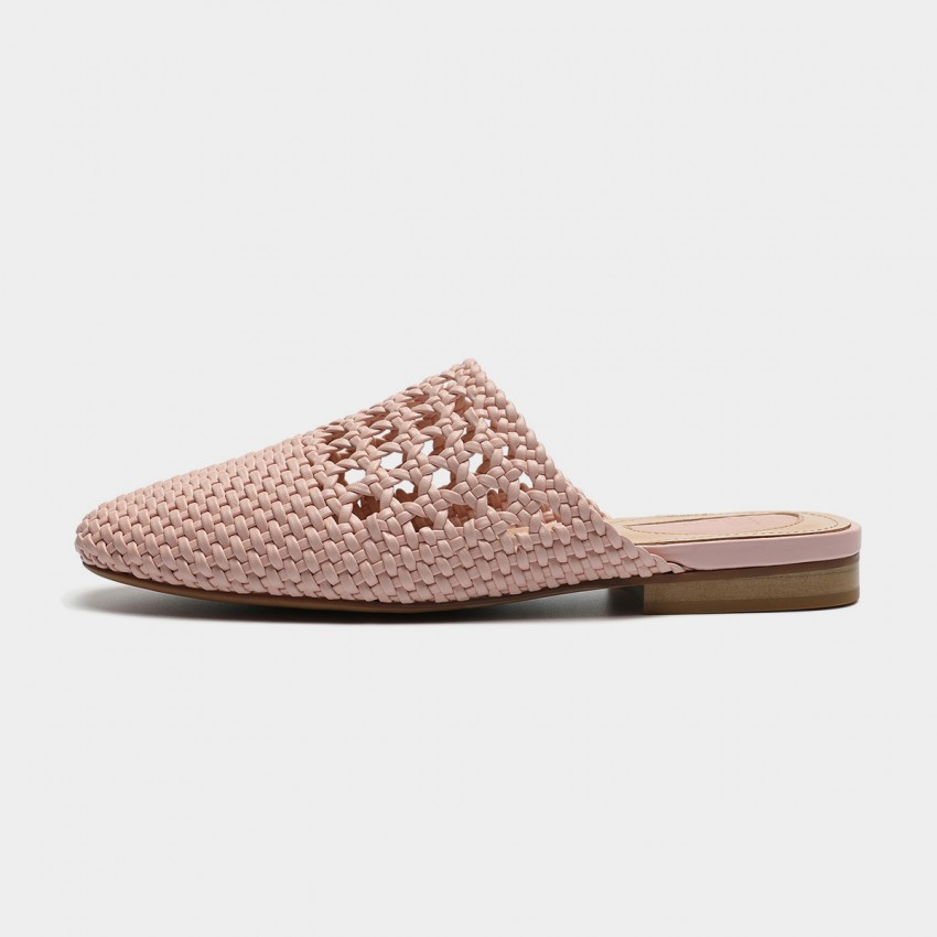 Buy Masoomake Modern Woven Pink Slippers online, shop Masoomake with free shipping
