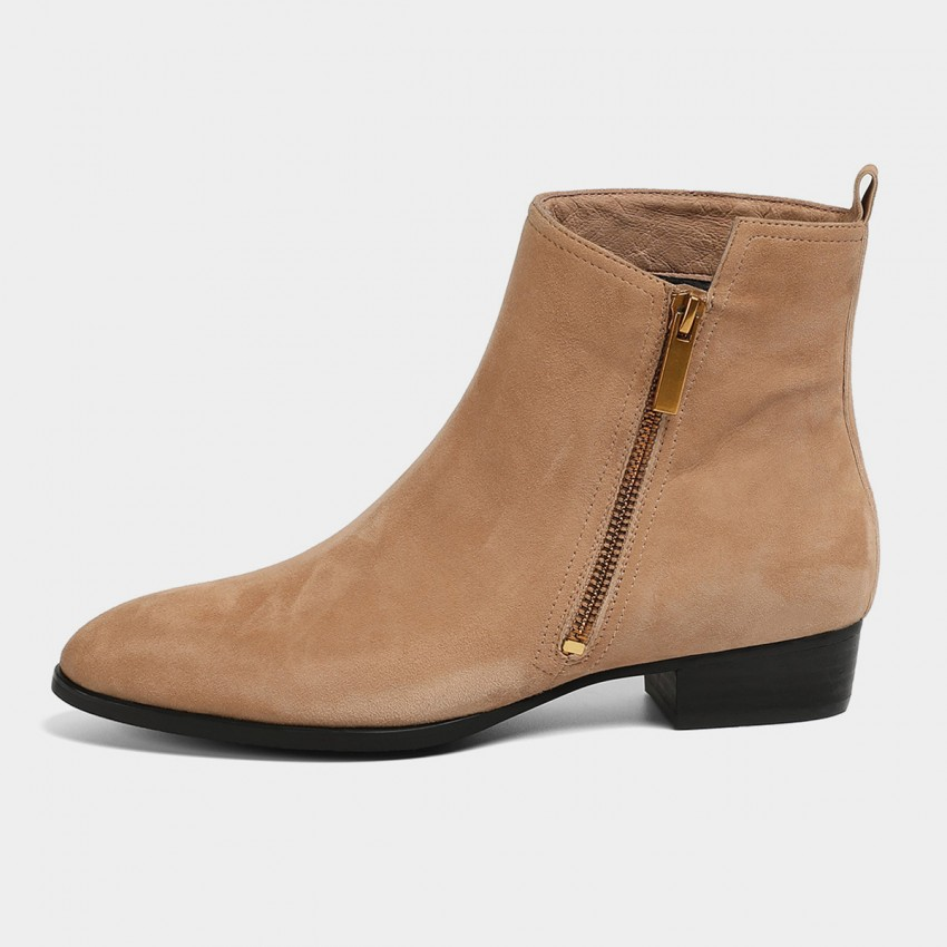Buy Masoomake Asymmetrical Apricot Boots online, shop Masoomake with free shipping
