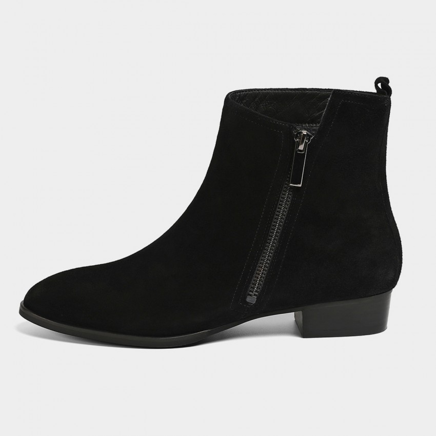 Buy Masoomake Asymmetrical Black Boots online, shop Masoomake with free shipping