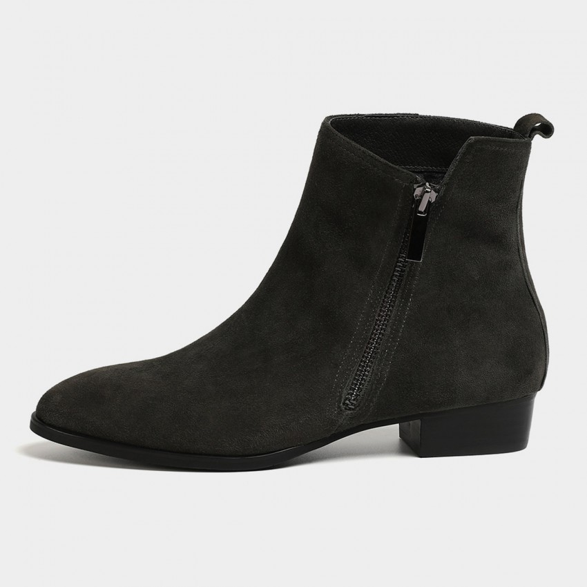 Buy Masoomake Asymmetrical Charcoal Boots online, shop Masoomake with free shipping
