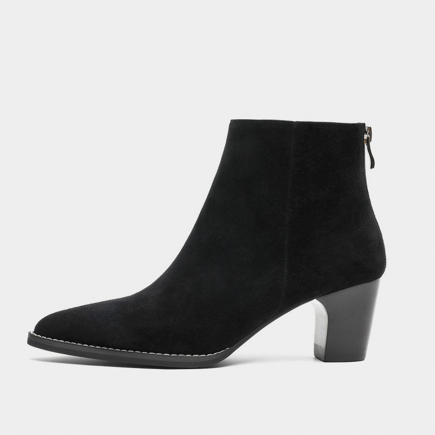 Buy Masoomake Heeled Suede Black Boots online, shop Masoomake with free shipping