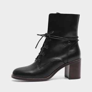 Masoomake Military Ribbon Black Boots (FSX86301)